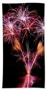 Fireworks Over Lake #15 Bath Towel