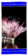 fireworks over San Rafael lake Bath Towel
