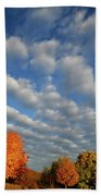 First Light On Glacial Park Sugar Maples Bath Towel