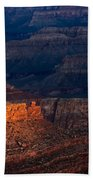 First Light Over Yavapai Point  Grand Canyon Bath Towel
