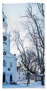 First Parish Church Manchester Ma North Winter Snow Bath Towel