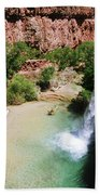 First View Of Havasu Falls Bath Towel