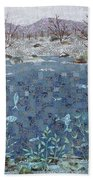 Fish And Winter Hand Towel