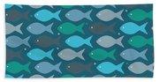 Fish Blue  Hand Towel