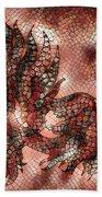 Fish In Cinnamon Mosaic 1 Bath Towel