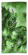 Fish In Green Mosaic 2 Bath Towel