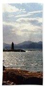 Fisherman In Nice France Hand Towel