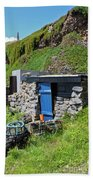 Fisherman's Hut Priest's Cove Cape Cornwall Bath Towel
