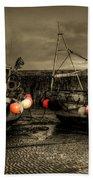 Fishing Boats At Lyme Regis Bath Towel