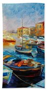 Fishing Boats Bath Towel