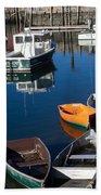 Fishing Boats, Rockport, Ma Bath Towel