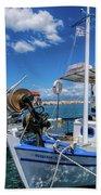 Fishing Boats Hand Towel