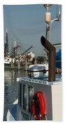 Fishing Fleet Bath Towel