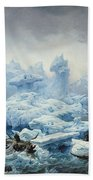 Fishing For Walrus In The Arctic Ocean Hand Towel