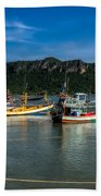 Fishing Harbour Bath Towel