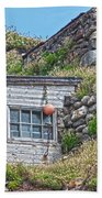Fishing Huts Cape Cornwall Bath Towel