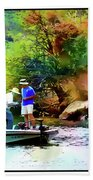 Fishing On Saguaro Lake In Arizona Bath Towel