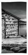 Fishing Shack And Wharf In Norris Point, Newfoundland Bath Towel