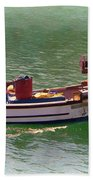 Fishing Vessel  Bath Towel by Paul Gulliver
