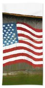 Flag And Barn - Painting Hand Towel