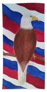 Flag And Eagle Bath Towel