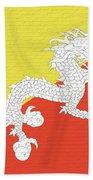 Flag Of Bhutan Wall Bath Towel