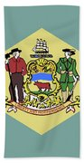 Flag Of Delaware Bath Towel