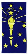 Flag Of Indiana Bath Towel