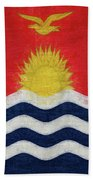 Flag Of Kiribati Texture Bath Towel
