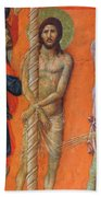 Flagellation Of Christ Fragment 1311 Bath Towel