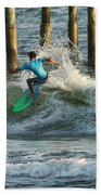 Flagler Beach Surf Day Bath Towel
