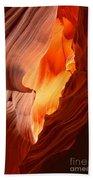 Flames Under The Arizona Desert Bath Towel