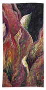 Flaming Leaves Bath Towel