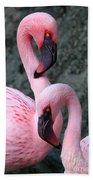 Flamingo Love Birds Bath Towel