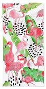 Flamingo Paradise Bath Towel