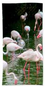 Flamingos 6 Bath Towel