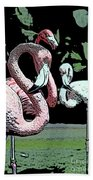 Flamingos II Bath Towel