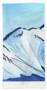 Flattop Through Ptarmigan Peak, Alaska Bath Towel