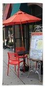 Flemington, Nj - Sidewalk Cafe Bath Towel