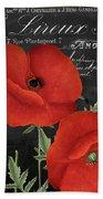 Fleur Du Jour Poppy Bath Towel