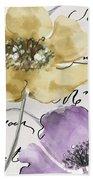 Fleurs De France II Bath Towel