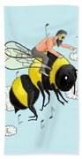 Flight Of The Bumblebee By Nicolai Rimsky Korsakov Bath Towel