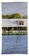 Floating House In La Parguera Puerto Rico Bath Towel