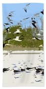 Flock Of Seagulls Bath Towel