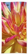 Floral Art Prints Bright Dahlia Flower Canvas Baslee Troutman  Bath Towel