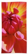 Floral Art Prints Orange Pink Dahlia Flower Baslee Troutman Bath Towel