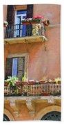Floral Balcony Bath Towel