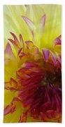 Floral Fine Art Dahlia Flower Yellow Red Prints Baslee Troutman Bath Towel