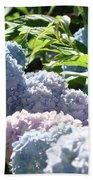 Floral Garden Art Prints Blud Hydrangea Flowers Bath Towel