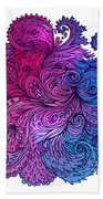 Lilac Floral Indian Pattern Bath Towel